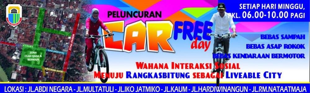 Ikuti Peluncuran Car Free Day Kabupaten Lebak Minggu, 24 Mei 2015
