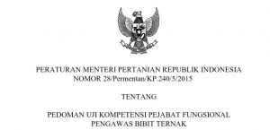 Dilindungi: PEDOMAN UJI KOMPETENSI PEJABAT FUNGSIONAL  PENGAWAS BIBIT TERNAK