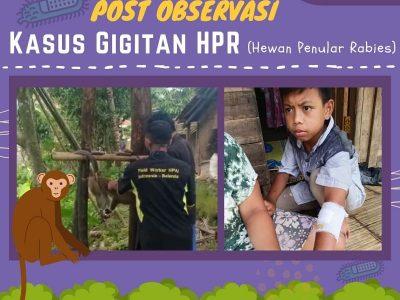 MONITORING POST OBSERVASI KASUS GIGITAN HPR ( Hewan Penular Rabies )